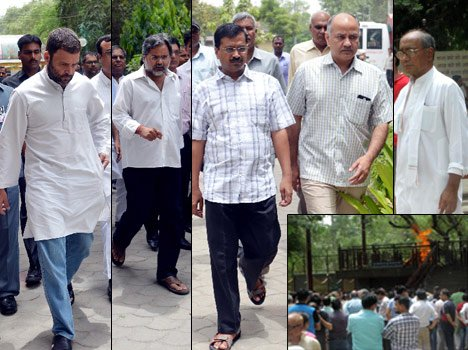 gathered in funeral of akshay journalism and political figure