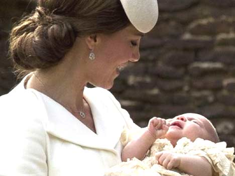 Princess Charlotte christened in a private ceremony