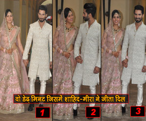 PHOTOS: Witin one and half minute Shahid and Mira won the hearts.