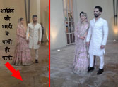 Shahid comes before media with mira rajput after wedding