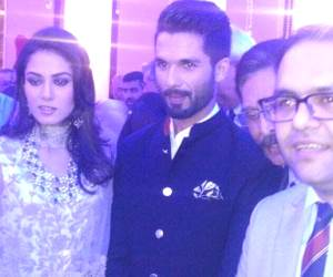 Shahid Kapoor and Mira Rajput wedding reception photos