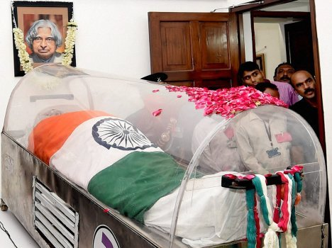 last salute  for Kalam