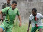 ms dhoni played football in ranchi