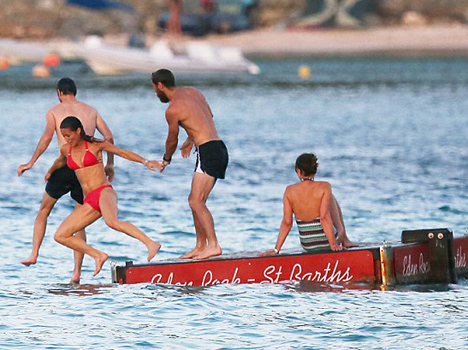 pippa middelton enjoys in water
