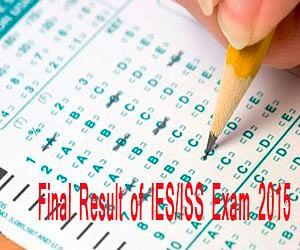 UPSC declares final result of  IES/ISS Exam 2015