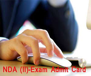e-Admit Card for NDA (II) Examination 2015 issued