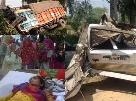 road accident in karnal, 5 dead including 2 children