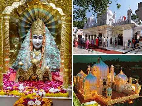 unique makeup of mata mansa devi temple on navratri