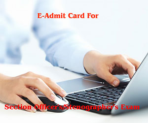 E-admit card for Section Officer's/Stenographer's Exam 2015 out