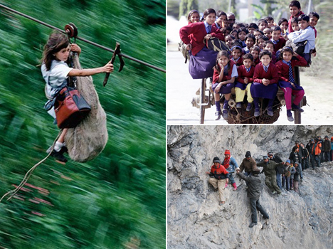 10 Life-Threatening Journeys Made By Kids to Go to School
