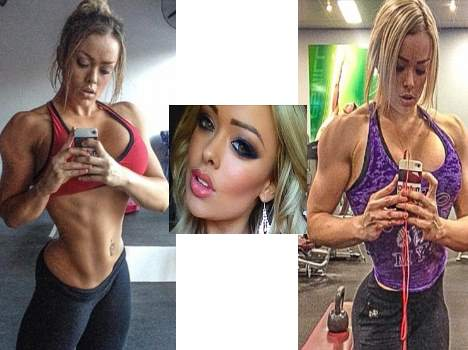 a bodybuilder who is a beauty queen also
