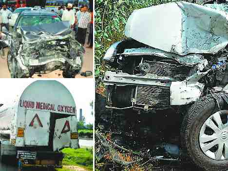 family members dead in horrible road accident