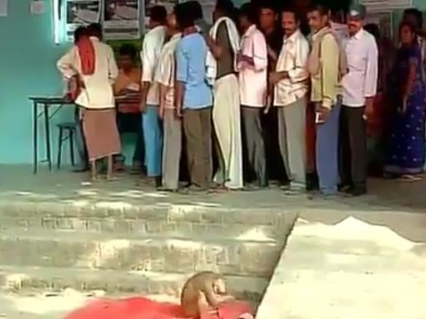 Bihar: During the voting a monkey raised terror