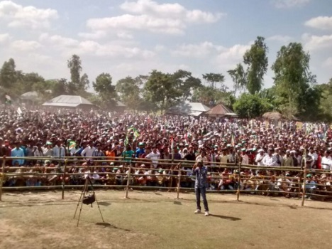 Bihar: Big gathering in nitish kumar's rallies