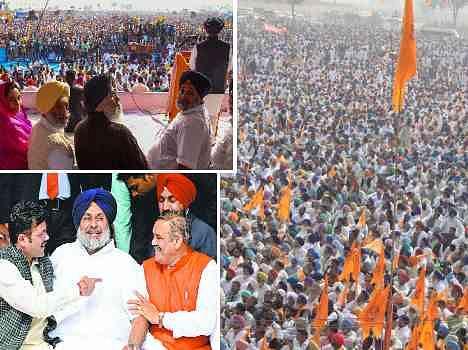 sadbhavana rally at bathinda by badal, target on anti leaders