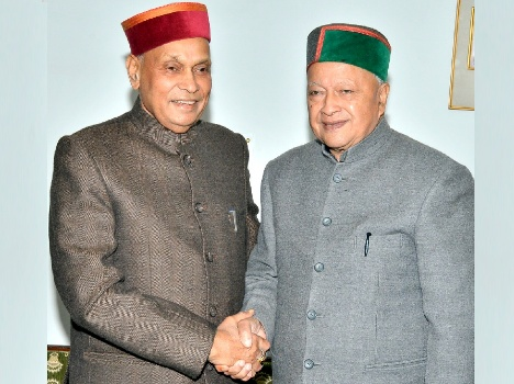cm virbhadra singh and prem kumar dhumal secret meeting at Oakover Shimla