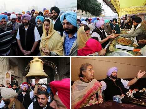 punjab president captain amrinder singh attack on badal government