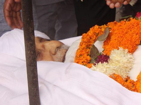 indian army brigadier sant singh dead, funeral photo