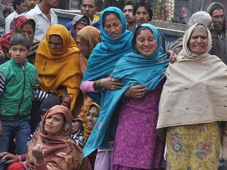 karnal jail prisoner death case, family protest