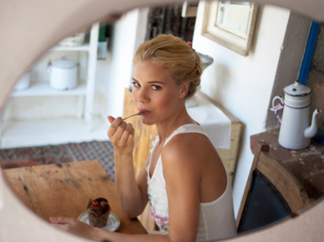 eat your food in front of mirror and lose your weight