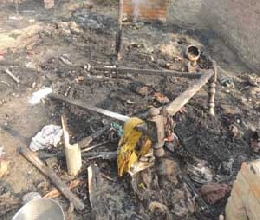 The death of the child scorched in Bhadohi