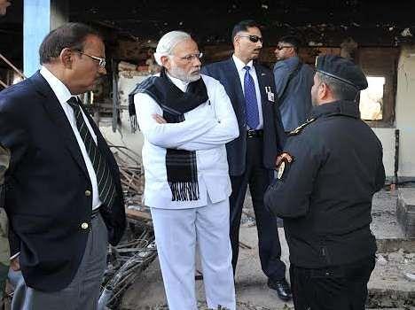 narendra modi tweeted after pathankot airbase visit