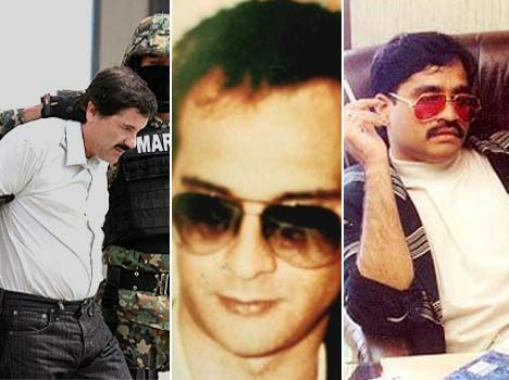 most wanted criminals like dawood and el chapo of the world