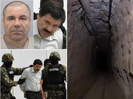 First look INSIDE El Chapo's Mexican prison cell and the 50cm wide tunnel