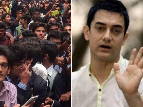 Aamir Khan gets mobbed by fans while shooting for Dangal