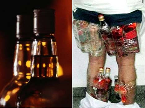 Saudi drinker is caught trying to smuggle alcohol in his underwear