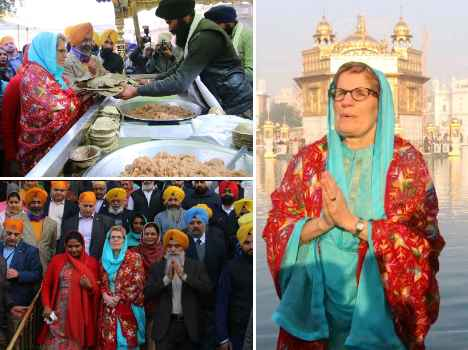 canadian lady and gay supporter minister awarded by SGPC