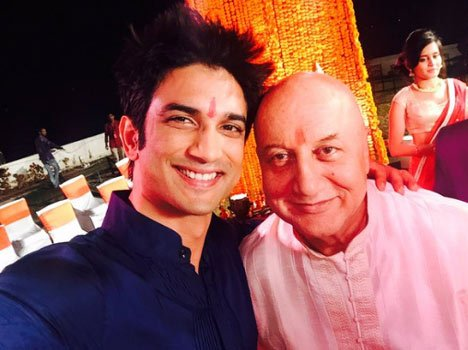 Sushant Singh Rajput shoots wedding sequence for Dhoni's biopic with anupam kher