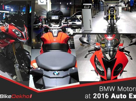 R 1200 GS, BMW R nineT, BMW S 1000 RR and S1000XR showcased at 2016 Auto Expo