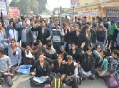 students of st. andrues college ruckus for result