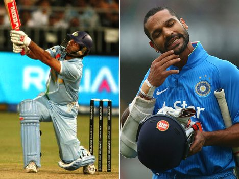 shikhar dhawan become third batsman in team india