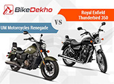 Royal Enfield Thunderbird 350 vs UM Motorcycles Renegade