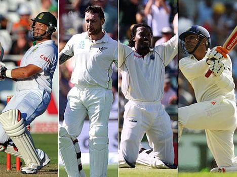 most sixes hit by test batsman