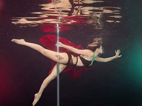 underwater pole dancing in california