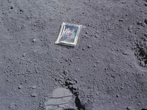 Things left on moon by astronauts
