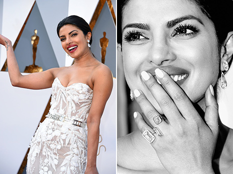 Priyanka chopra overall look and style in oscars 2016