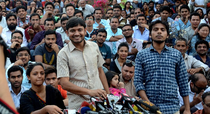 jnu sedition case : police did not object, kanhaiya and others get regular bail