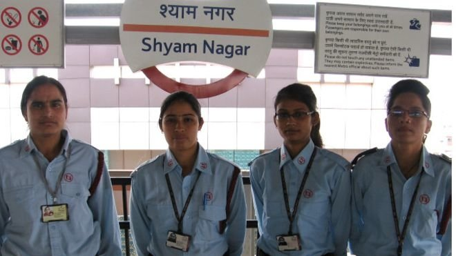 The whole command of shyamnagar metro station in the hands of women