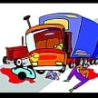 Road accident, truck-bike collision, the death of two young men, Sangrur