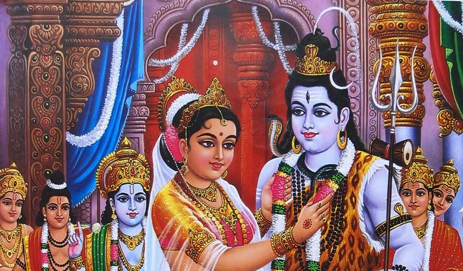 Image result for marriage of lord shiva and parvati