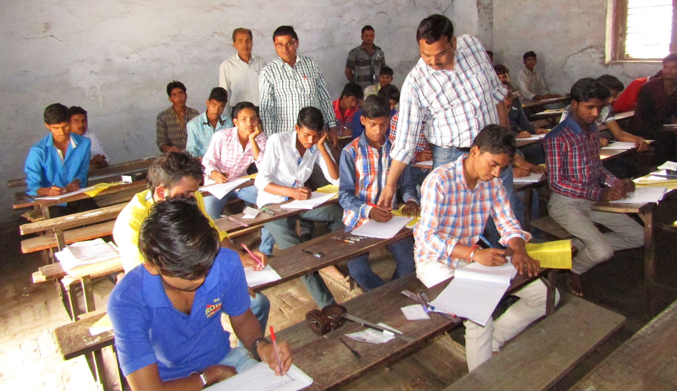 Allahabad: During the UP Board Examination, the Principal arrested for mass copying