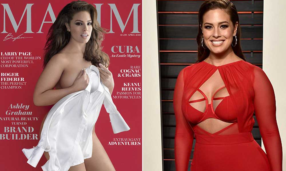 Ashley Graham goes almost nude for Maxim photoshoot