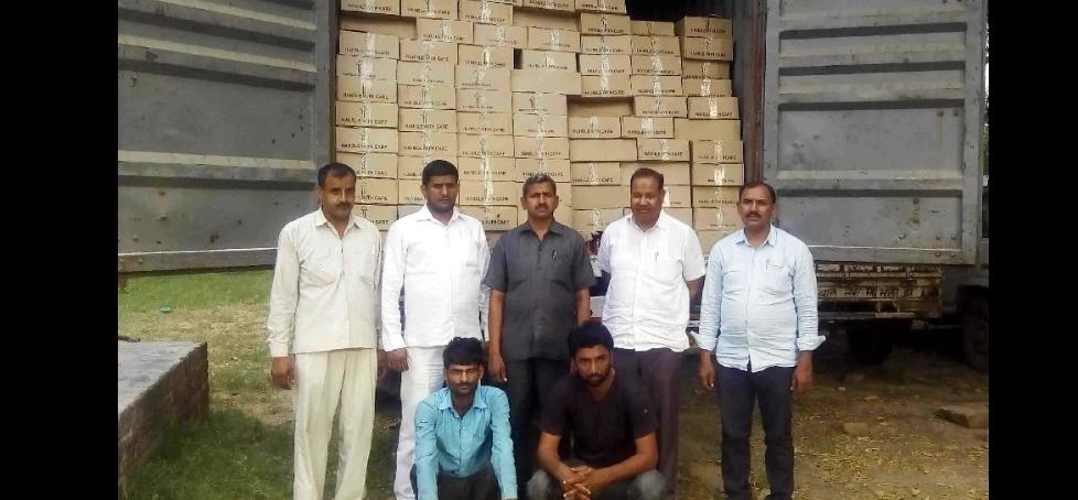 cia police arrest two with canter filled with liquor