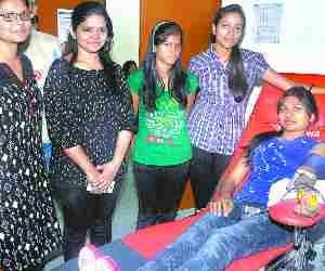 120 students donated blood