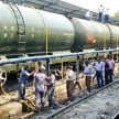 Water crisis: Water train reached Mahoba on Friday after Latur.