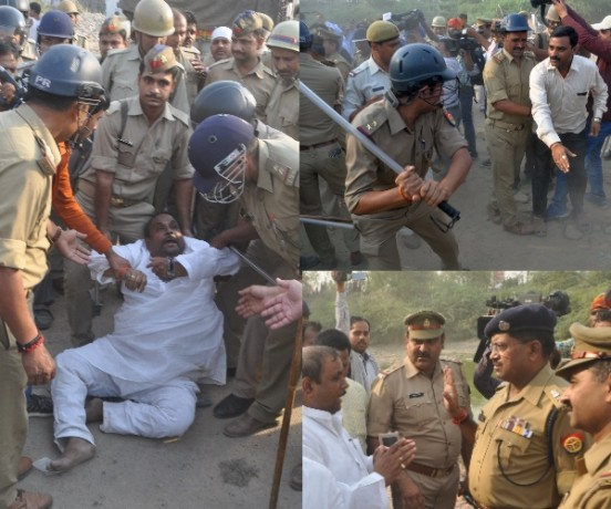 lda demolishes illegal building of sp leader rampal yadav